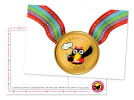 Crowlees medal postcards