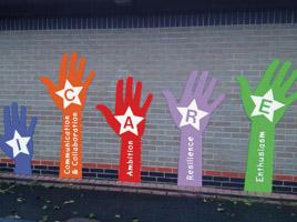 'Handy' playground wall graphics
